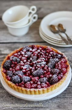 Con aroma de vainilla: Tarta de yogur y frutos rojos