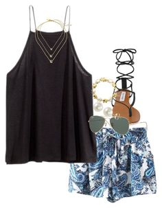 """back from beach :/"" by econgdon ❤ liked on Polyvore featuring H&M, Kate Spade, Steve Madden, Ray-Ban, PearLustre by Imperial and Classic Treasures"