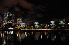 White Night Melbourne 2014 Architecture, Melbourne, Design Art, New York Skyline, Art Photography, Street Art, Illustration Art, Night, Water
