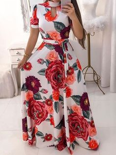 Cheap maxi dresses, sexy long maxi dresses with various colors and Cheap Maxi Dresses, Long Summer Dresses, White Maxi Dresses, Maxi Dress With Sleeves, Floral Maxi Dress, Short Sleeve Dresses, Dress Flower, Fashion Dresses, Dress Outfits