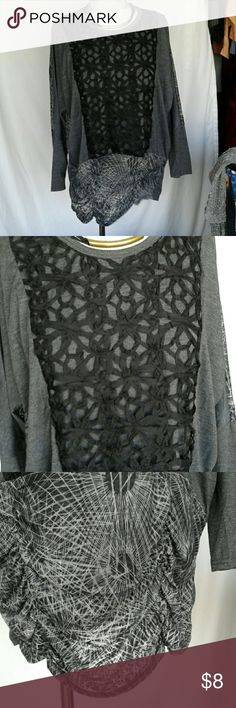 No tags ( as you can tell, I hate tags!!) Black with lattice inlays. Stretchy material. Feels new I don't remember ever wearing  it. Item 104 Tops Tunics