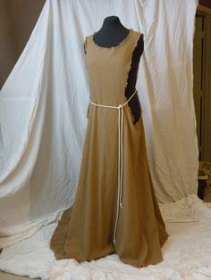 Medieval Peasant Kirtle and Surcote Ensemble - Made to Order