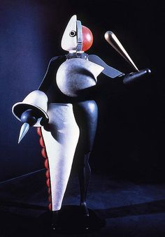 """Oskar Schlemmer costume design """"Der Abstrakte"""" for the """"Triadischen Ballett""""…"""