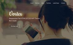 Vortex - Beautiful new single page WordPress theme by Lesya Fragrance, of Fragrance Themes, called 'Vortex theme'