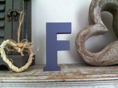 Freestanding Wooden Wedding Letter 'F' - Plain Finish - 10cm - Ariel  £3.95