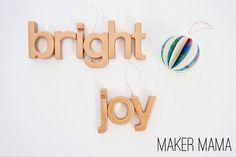 Maker Mama Craft Blog: DIY Magnet Letter Ornaments