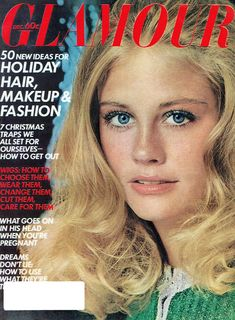 Cybill Shepherd, Glamour Magazine, Holiday Hairstyles, What Goes On, Getting Out, Wigs, Makeup, Magazines, 1970s