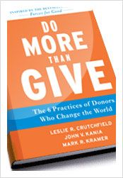 """""""There is more to philanthropy - much more - than just giving money away."""" (The Economist, May 2011)"""