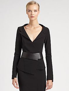 Sexy power-woman armor (Donna Karan Belted Envelope Jacket)