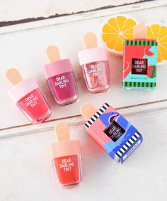 """FAVOR Popsicle design is too cute! Without Etude House """"Dear Darling Water Gel Tint"""" … – Life and personal care Beauty Care, Beauty Skin, Beauty Makeup, Etude House, Dear Darling Tint, Chapstick Lip Balm, Cosmetic Design, Cosmetic Packaging, Cute Makeup"""