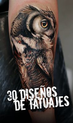 coolest owl tattoo art design ideas awesome tattoos i Tattoos 3d, Badass Tattoos, Body Art Tattoos, Sleeve Tattoos, Awesome Tattoos, Owl Tattoo Design, Tattoo Designs, Owl Forearm Tattoo, Owl Eye Tattoo