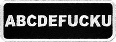 """""""ABCDEFUCKU"""" WOVEN PATCH, ACCESSORIES"""