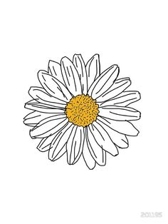 Flower Drawing Discover Daisy Sticker by 201195 Daisy by 201195 Tumblr Stickers, Cute Stickers, Margaritas Tumblr, Daisy Drawing, Daisy Painting, Art Sketches, Art Drawings, Flower Doodles, Aesthetic Stickers