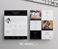 Great Beauty Blogger Media Kit   Two Pages  CreativeWork247 - Fonts, Graphic...