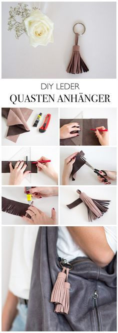 51 Ideas for diy fashion jewelry link Diy Leather Tassel, Diy Tassel, Leather Craft, Tassels, Gold Leather, Leather Bag, Diy Jewelry Bags, Jewelry Crafts, Jewelry Ideas