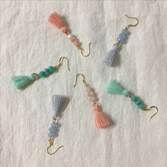 Merci tassel earrings