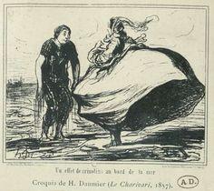 Croquis de H. Daumier (Le Charivari, 1857) A retrouver dans l'album Accessoires de costume. Vêtements et objets divers. France. XIXe siècle. Lingerie. Vol. 2. éditeurs divers, 1800. Cote Maciet 222/6 #accessoiredecostume #accessoire #lingerie #crinoline #france #19esiecle #dessinhumouristique #collectionjulesmaciet #collectioniconographique #bibliothequeartsdecoratifs #bibliotheque #artsdecoratifs Lingerie, France, Album, Costume Jewelry, 19th Century, Sketch, Objects, Underwear, French Resources