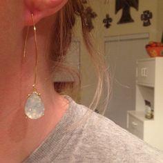 Teardrop dangle earrings Teardrop dangle earrings. Has a fish hook stem. These are gorgeous! Brand new earrings! Jewelry Earrings