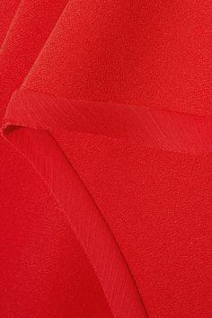 Jason Wu - Asymmetric Chiffon-trimmed Crepe Top - Red - US10