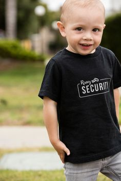 The most darling iron-on Petal Patrol and Ring Security shirts, with free Cricut…