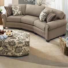 393 Conversation Sofa By Smith Brothers Round Living Furniture Lane