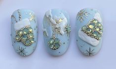 Foil Nail Art, Foil Nails, Christmas Nails, Pedicure, Pearl Earrings, Bling Bling, Nail Designs, Jewelry, Youtube