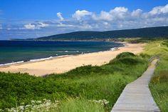 size: Premium Photographic Print: Canada, Nova Scotia, Cape Breton, Inverness Beach Boardwalk by Patrick J. Inverness Nova Scotia, Outer Banks Nc, Beach Boardwalk, Cape Breton, Beach Landscape, National Parks, Scenery, Canada, Pathways