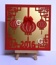 Chinese New Year Card and separate topper design 1 on Craftsuprint - Add To Basket!