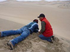 A punto de tirarme por las dunas