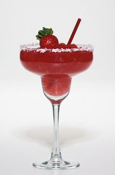 Strawberry margarita. This is classic recipe of this popular cocktail with orange liqueur,tequila and lime juice. Delicious!!!