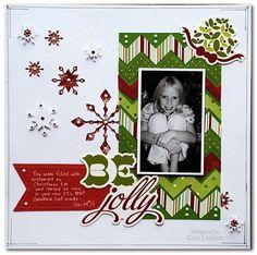 cute Christmas scrapbook layout