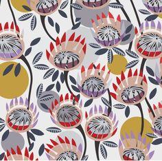 helen ansell - Google Search Ethnic Patterns, Print Patterns, Australian Art, Simple Flowers, Repeating Patterns, Textile Prints, Flower Art, Nativity, Contemporary Art