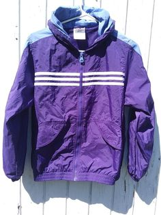 be7b9e632f5d ADIDAS Girls Large 14 Purple 3 Stripes Zip Up Track Jacket hoodie RN  88387   adidas  AthleticJackets  Everyday