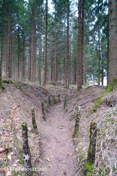 1st World War trench in Verdun