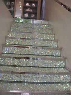 "Amazing ""swarovski"" stair design. - 31 Sparkling DIY Decoration Ideas To Jazz Up Your Life"