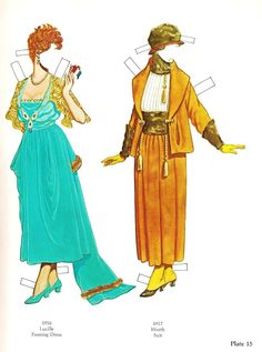 Great Fashion Designs of La Belle Époque  Paper Dolls by Tom Tierney - Dover Publications, Inc.,1982: Plate 15 (of 16)