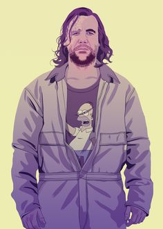 Sandor Clegane (The Hound) - GAME OF THRONES 80/90s ERA CHARACTERS by Mike Wrobel, aka Moshi-Kun. #hipster #illustration #GTA #Homer #Simpsons