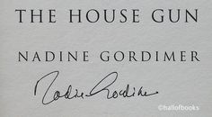 The House Gun by Nadine Gordimer