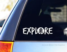 Explore Car Decal, Vinyl Sticker, Vinyl Decal - Outdoor Recreation & Adventure - Car or Vehicle Window Decal, Laptop Sticker, Bumper Sticker
