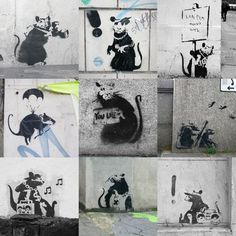Banksy - Rats Collage by Panorama London - art print from King & McGaw Street Art Banksy, 3d Street Art, Street Artists, Graffiti Art, Arte Banksy, Banksy Rat, Bansky, Street Art London, London Art