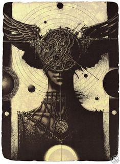 "Roman Sustov ""DreamCatcher"" lithography 2015"