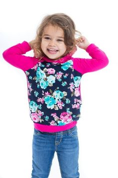 Youth Lil' Fashionista Floral Hoodie