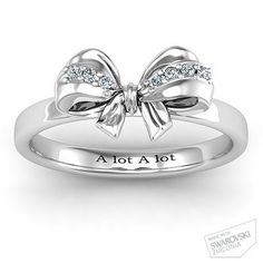 nice Fancy Stone Set Bow Ring