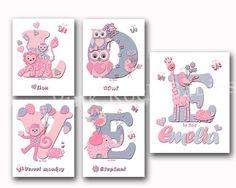 Love nursery decor gift for baby girl name by PinkRockBabies