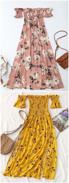 Up to 80% OFF! Floral Slit Smocked Off Shoulder Midi Dress. #Zaful #Dress Zaful,zaful outfits,zaful dresses,spring outfits,summer dresses,Valentine's Day,valentines day ideas,valentines outfits,cute,casual,classy,fashion,style,dress,long dress,maxi dress,mini dress,long sleeve dress,flounced dress,vintage dress,casual dress,lace dress,boho dress, flower dresses,maxi dresses,evening dresses,floral dresses,long dress,party dress,bohemian dresses,floral dress @zaful Extra 10% OFF Code:ZF2017