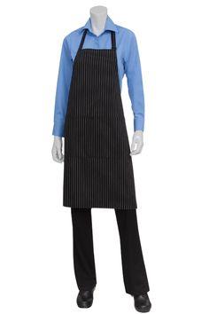 Black & White or Black & Red PINSTRIPE Chef Apron $10.95 from ChefsEmporium.net
