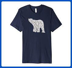 Mens Polar Bear T Shirt Geometric Abstract Polar Bear Design Large Navy - Animal shirts (*Amazon Partner-Link)