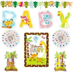 Fisher Price Baby Decoration Kit 10pc   Decorating Kits   Baby Showers    Categories   Party