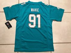 92fc9e6fa NWT NIKE Miami Dolphins Cameron Wake NFL Jersey Youth Medium MSRP  75