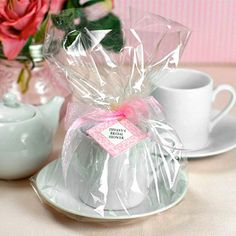 This could be really cute for the truffles if they are coffee flavored!    Mini Tea Sets by Beau-coup